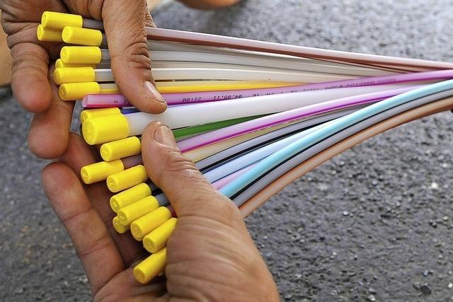 Glasfaser für die Siedlung