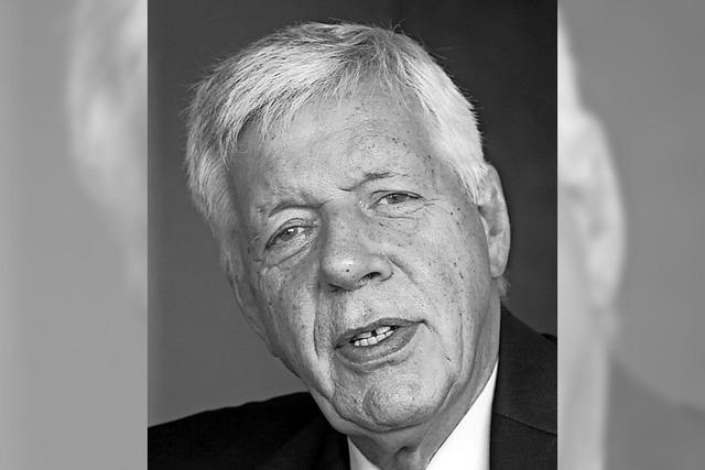 Ex-Minister Müller ist tot