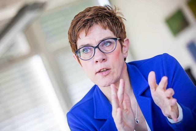 CDU-Chefin Kramp-Karrenbauer wird Verteidigungsministerin