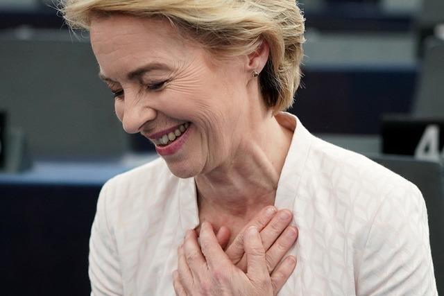 Ursula von der Leyen als erste Frau knapp an die Spitze der EU gewählt