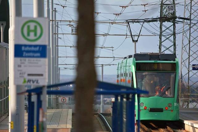 Die Tramlinie 8 legt nur innerhalb des Stadtverkehrs weiter zu