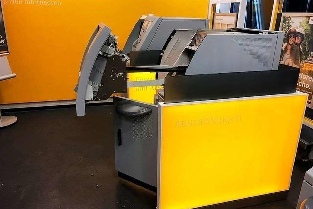 Geldautomat in Bad Krozingen gesprengt: Die Tat wurde gefilmt