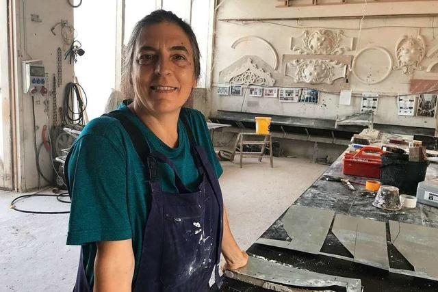 Matilde Grau aus Barcelona bringt Porzellan in den Prinzengarten