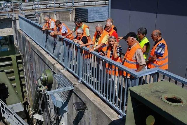 BZ-Hautnah-Führung durchs Wasserkraftwerk Rheinfelden