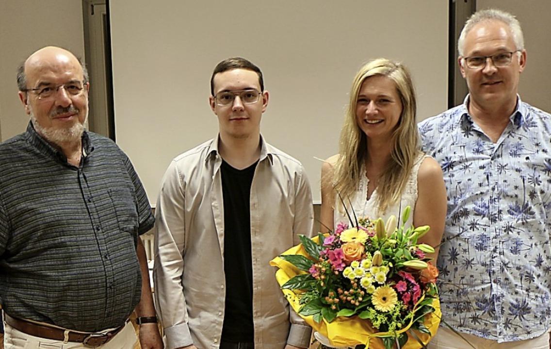 Neue Gemeinderäte sind Josef Hügle und...tz Mundinger scheiden aus (von links)   | Foto: Helmut Hassler