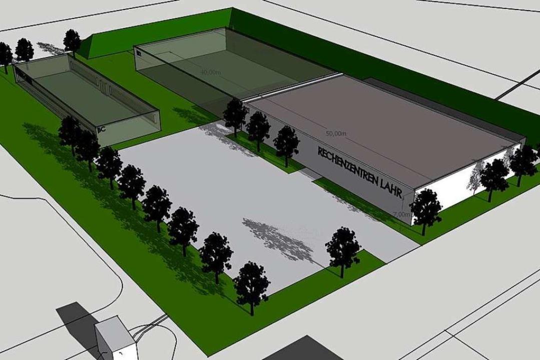 So könnte das Rechenzentrum aussehen. ...rundstück ist Platz für Erweiterungen.  | Foto: Startklahr