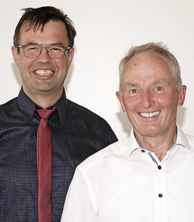 Rudolf Isele (links) ist erster Bürger...erstellvertreter, Sigurd Kohl zweiter.  | Foto: Eva Korinth