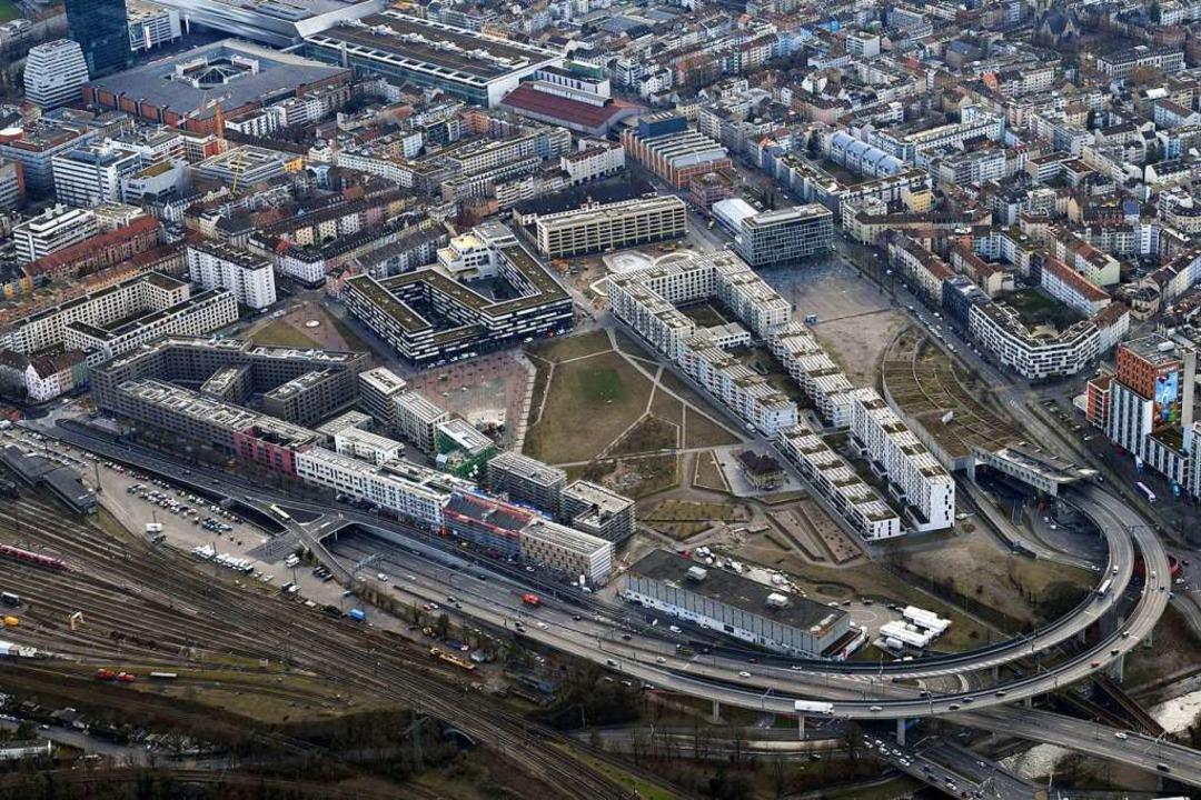 Das Erlenmattquartier beim Badischen B...einbasel neu entwickelten Wohnviertel.  | Foto: Erich Meyer