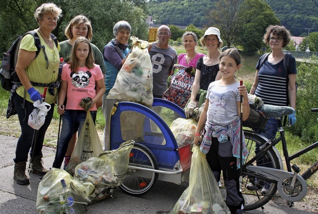 Ganz schön viel Müll hat die Gruppe &#... bei ihrer jüngsten Aktion gesammelt.   | Foto: Ralph Lacher