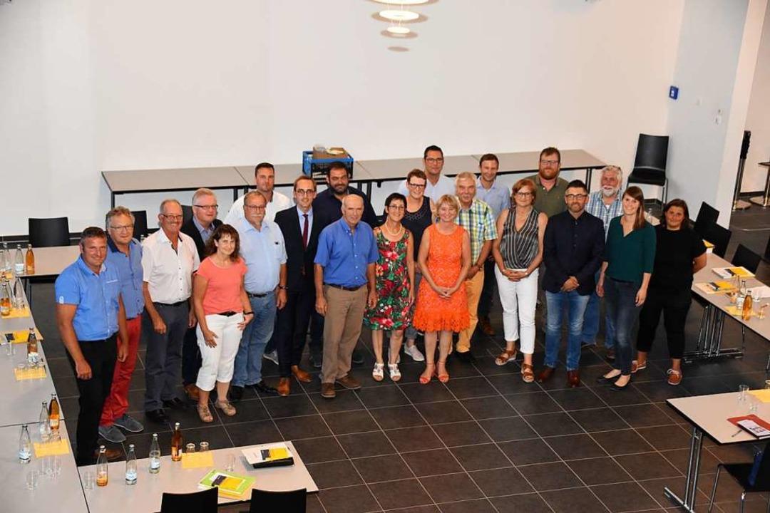 Der neue Vogtsburger Gemeinderat hat sich am Dienstagabend konstituiert.  | Foto: Thomas Rhenisch