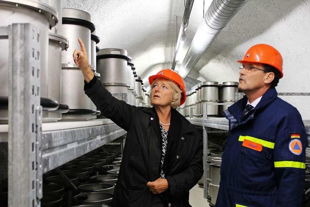 Kulturstaatsministerin Monika Grütters...m Barbarastollen des Schauinslands an.  | Foto: Erich Krieger