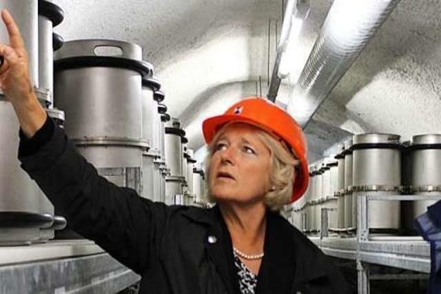 Staatsministerin Monika Grütters besucht den Barbarastollen in Oberried