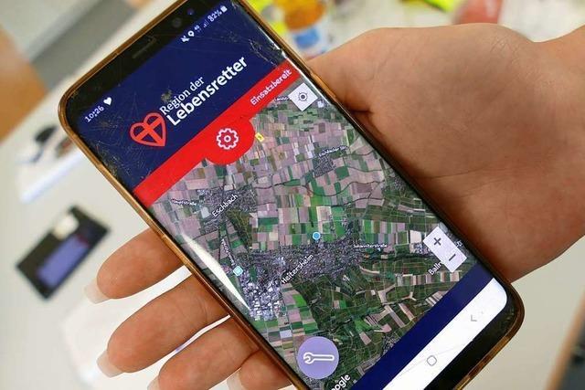 Heitersheimer DRK-Ersthelfer sind dank App schnell beim Patienten