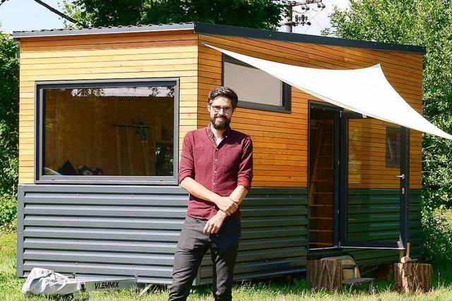 Dieser Freiburger hat ein klitzekleines Haus gebaut