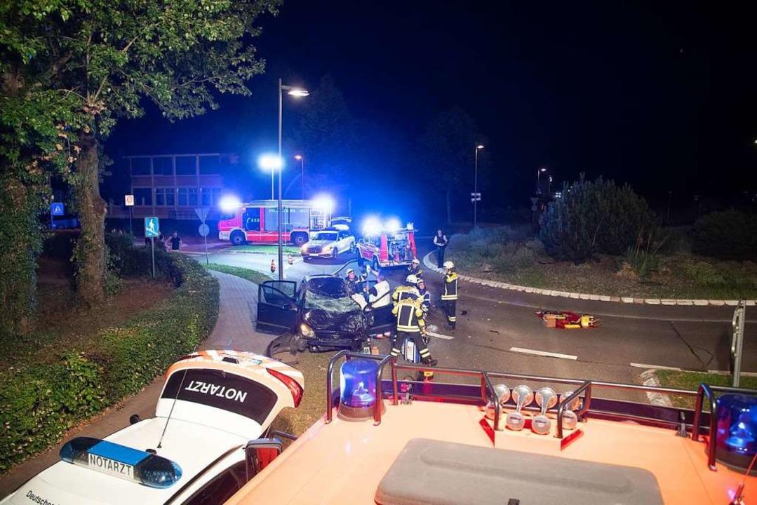 Lebensgefährliche Verletzungen erlitt ... in der Schwarzwaldstraße in Müllheim.  | Foto: Volker Münch
