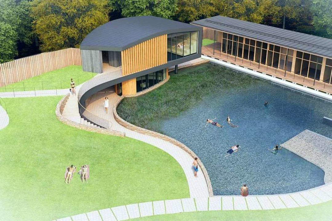 So soll die Außensauna einmal aussehen...ich auf die Eintrittspreise auswirken.  | Foto: Studio Gollwitzer Architekten GmbH München