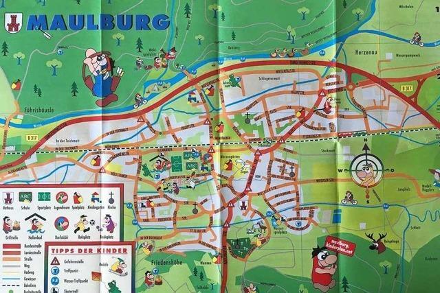 Maulburg hat einen Stadtplan, der Gefahren und Spielmöglichkeiten aus Kindersicht festhält