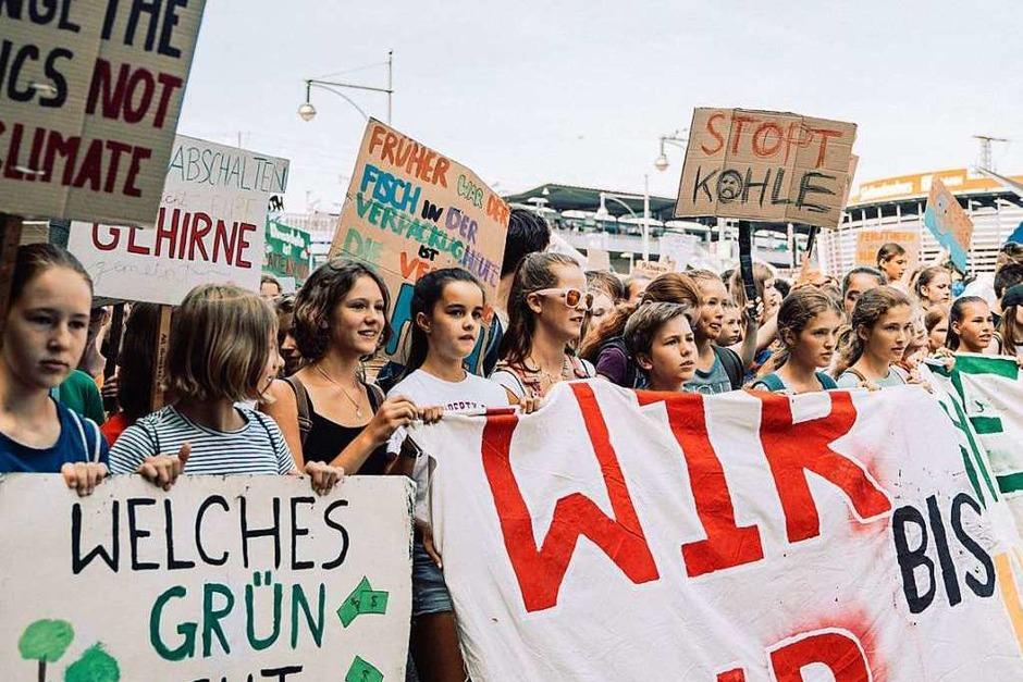 Streik für den Klimaschutz: In Freiburg demonstrierten am Freitag 7500 Menschen bei Fridays for Future. (Foto: Stefan Hipp)