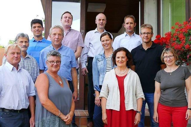 In Waltershofen wurden vier neue Ortschaftsräte begrüßt