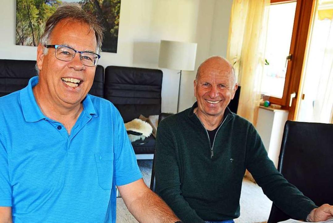 Jetzt planen Günter Huhn (links) und M...r und organisieren die Trainingslager.    Foto: Gerhard Lück