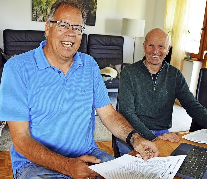 Jetzt planen Günter Huhn (links) und M... und organisieren die Trainingslager.   | Foto: Gerhard Lück