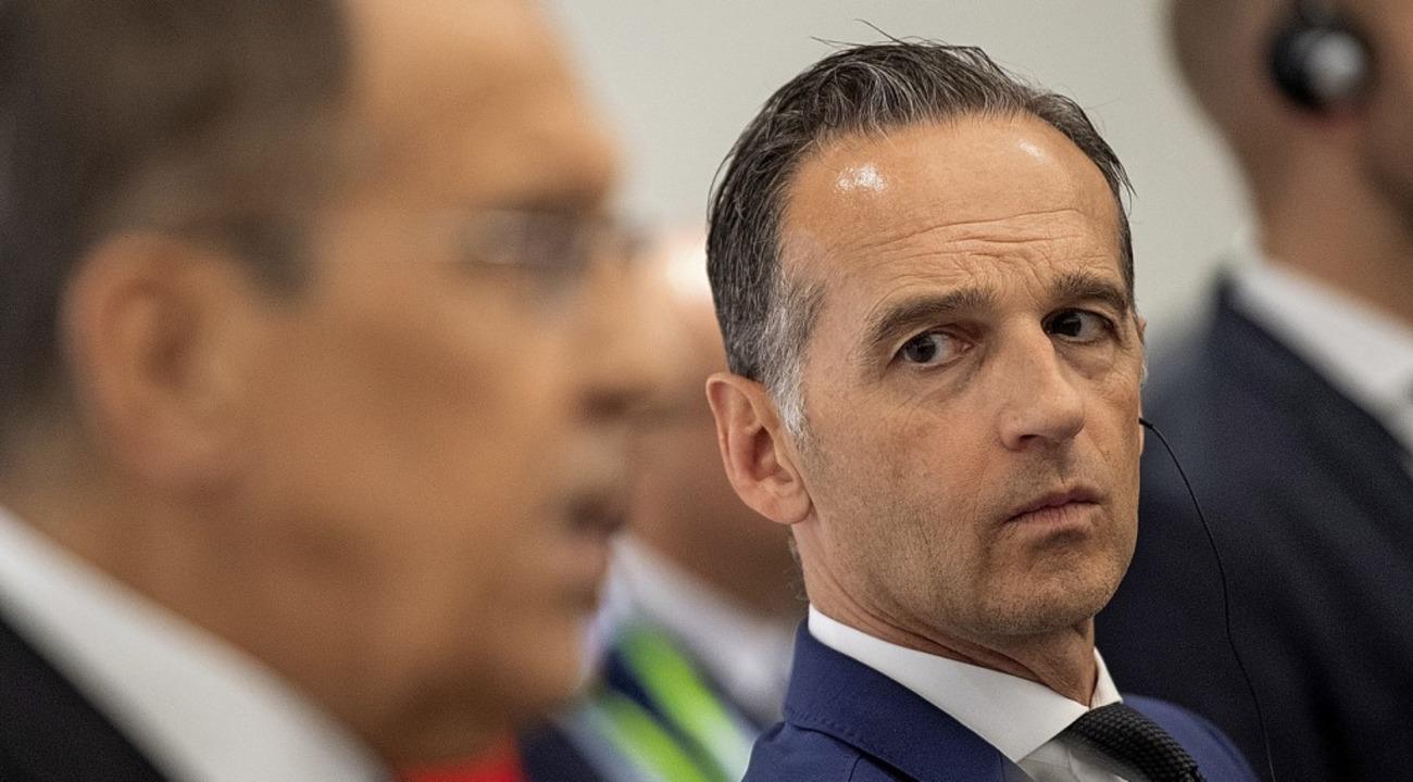 Die Außenminister Heiko Maas (rechts) und Sergej Lawrow  | Foto: Marius Becker (dpa)