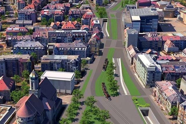 Was passiert mit Freiburgs Dreisamufer, wenn es den Stadttunnel gibt?