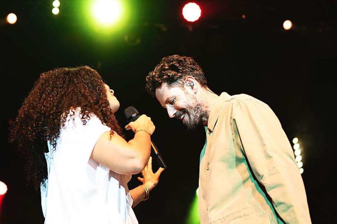 Joy Denalane, Herres Frau, sang zusammen mit dem HipHopper ein Duett.  | Foto: Fabio Smitka