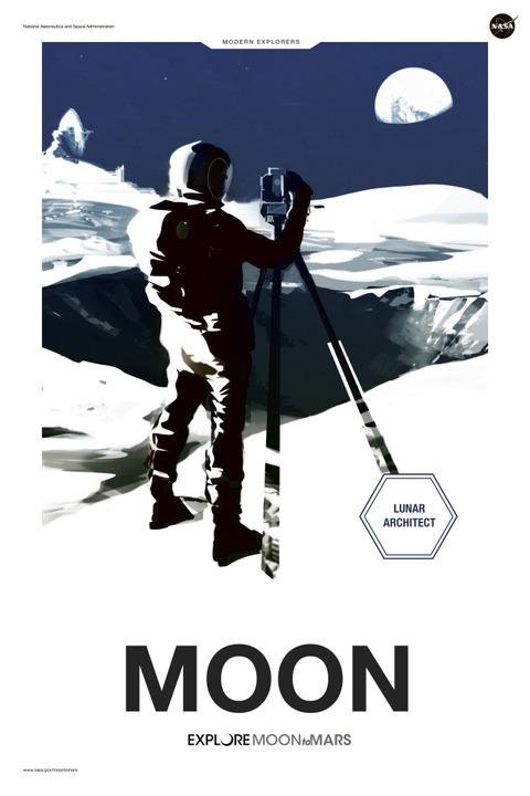 Der erste Siedler: Werbeposter der Nasa für eine Mondbasis   | Foto: juanmrgt - stock.adobe.com