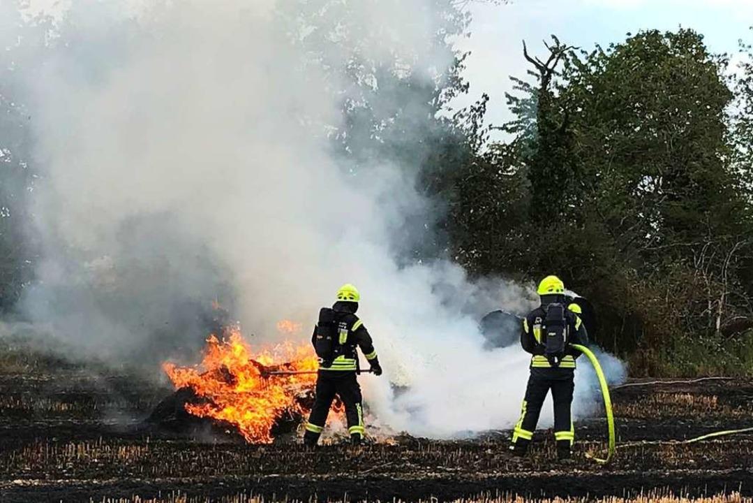 45 Feuerwehrleute waren im Einsatz.  | Foto: Feuerwehr Neuenburg