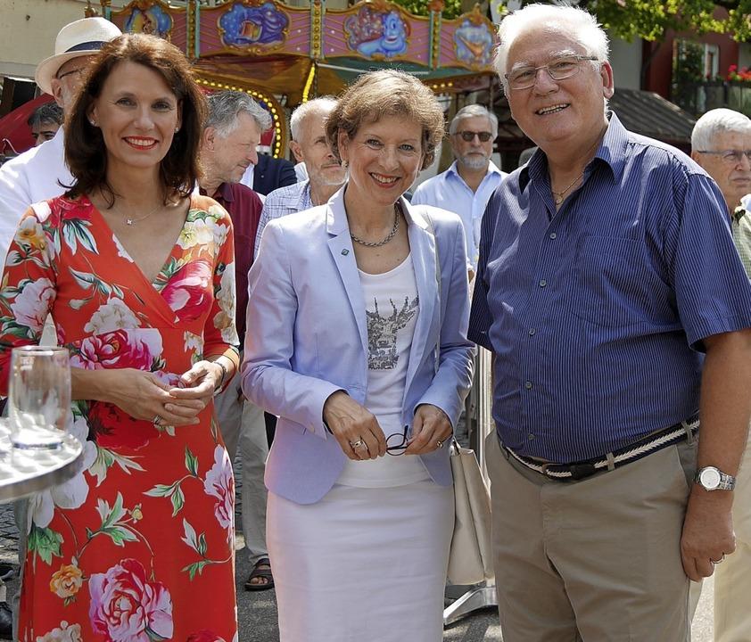 Feiern gemeinsam 20 Jahre Naturparkmar...hristina Scholz unterhielt die Gäste.   | Foto: Marion Rank