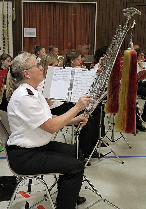 Der Spielmanns- und Musikzug aus Köndringen umrahmte die Versammlung.    Foto: Annika Sindlinger