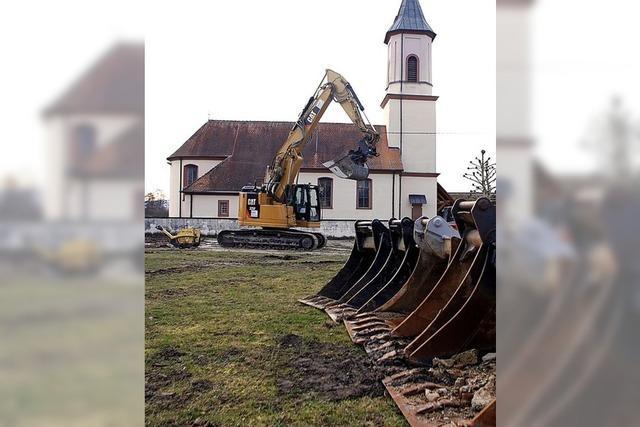 Römische Relikte werden ausgegraben