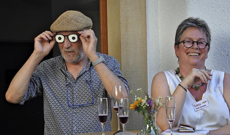 Peter Gaymann und  Heidi Schwarz-Schindler  | Foto: Jutta Schütz