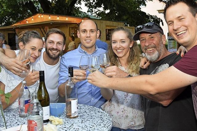 Weinfreunde kommen auf ihre Kosten