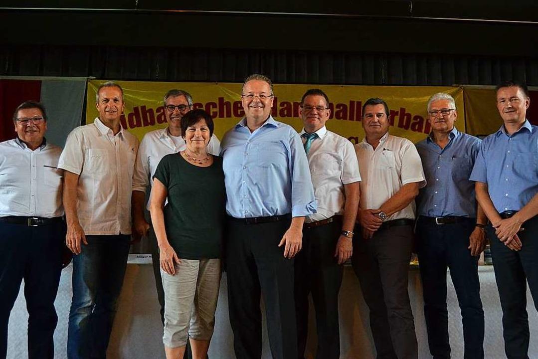 Das neue SHV-Präsidium, von links: Ger...h Kokemüller (Vizepräsident Finanzen).  | Foto: Matthias Kaufhold