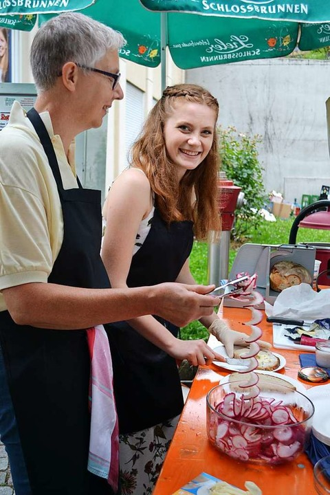 Alles Handarbeit: Frisch zubereitetes Gemüse mit Pfiff  | Foto: Paul Berger
