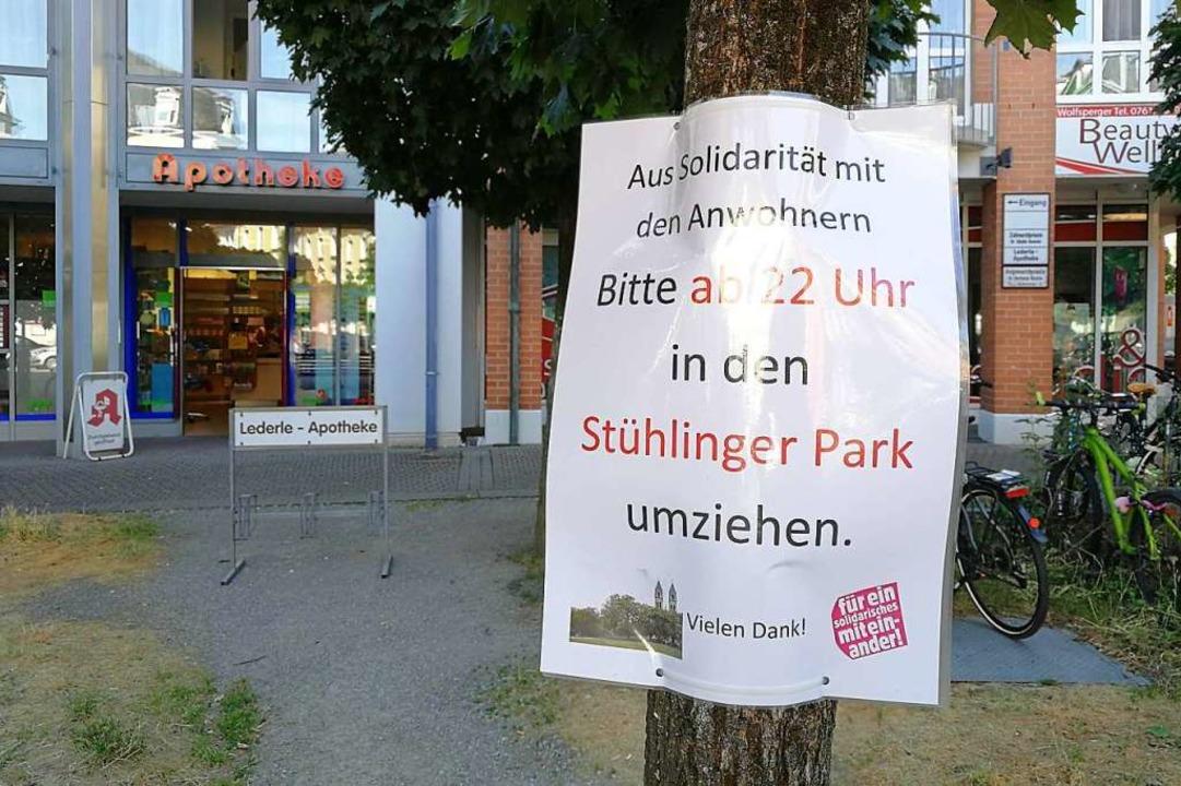 Der Wunsch der Anwohner: Ruhe ab 22 Uh...h Umzug auf den Stühlinger Kirchplatz.  | Foto: Anika Maldacker
