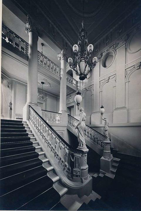 Das Treppenhaus des Palais Sickingen h...ngriff vom 27. November 1944 zerstört.  | Foto: Augustinermuseum