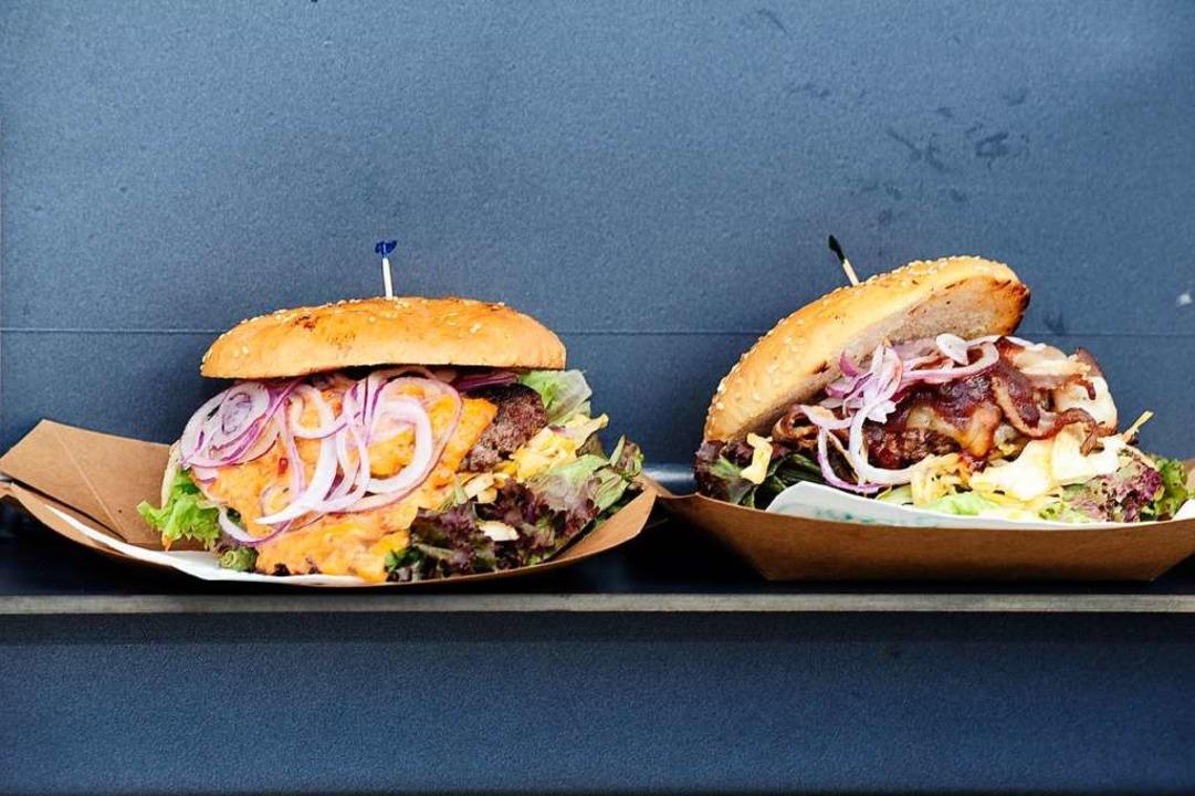Saftige Burger dürfen bei keinem Foodtruck-Festival fehlen.   | Foto: Bernhard Seitz