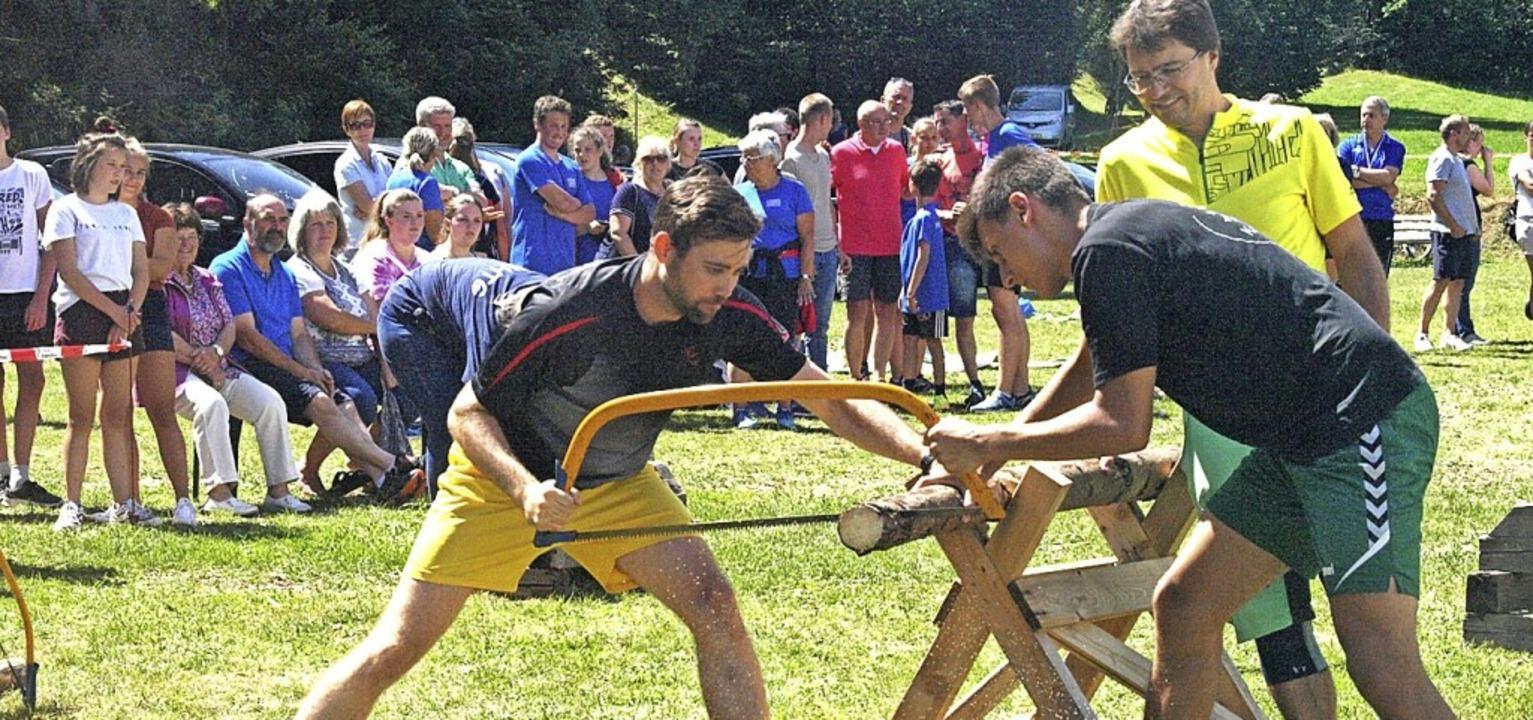 Auch das mittlerweile 66. Bergturnfest...ie üblich der beliebte Wälderwettkampf  | Foto: Karin Stöckl-Steinebrunner