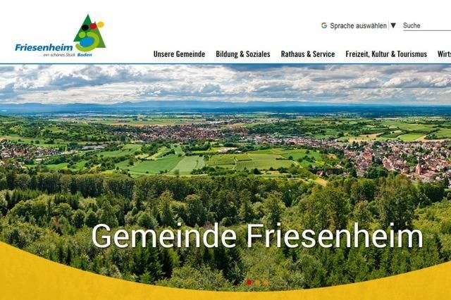 Gemeinde Friesenheim ist ab Donnerstag wieder online