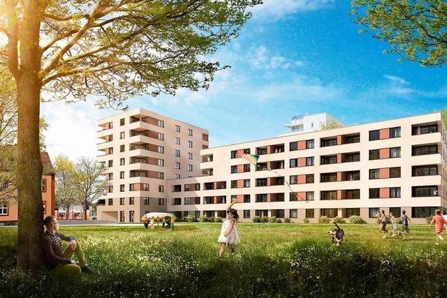 Im Freiburger Stadtteil Mooswald sollen 59 geförderte Wohnungen entstehen