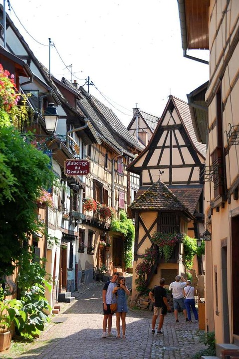Fachwerkidyll: Eguisheim.  | Foto: Bärbel Nückles