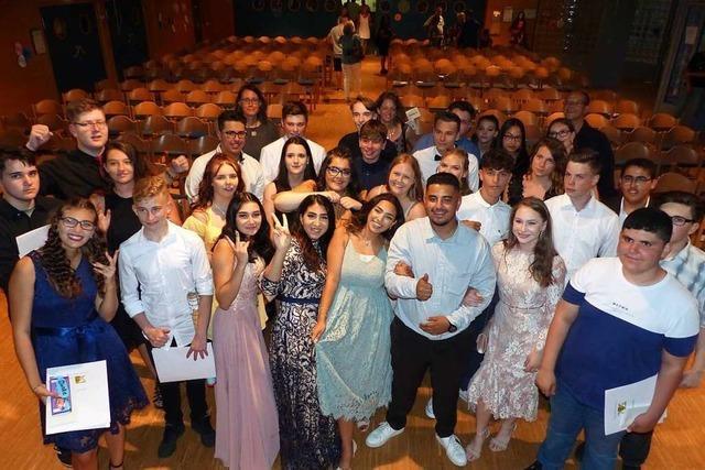 Abschied von der Marcher Gemeinschaftsschule für 35 Schülerinnen und Schüler