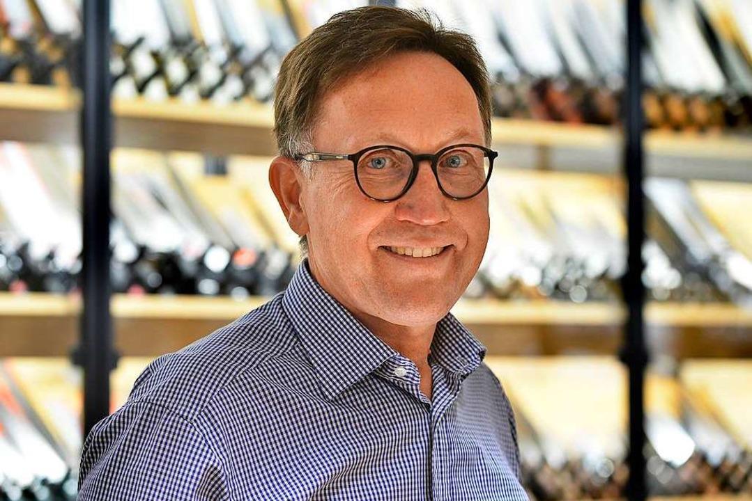 Bernd Ramsperger in seinem Geschäft  | Foto: Michael Bamberger