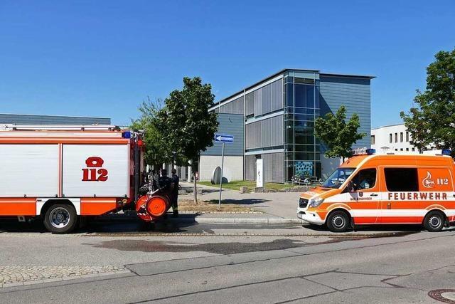 Großes Aufgebot, kleiner Einsatz in Bad Krozingen