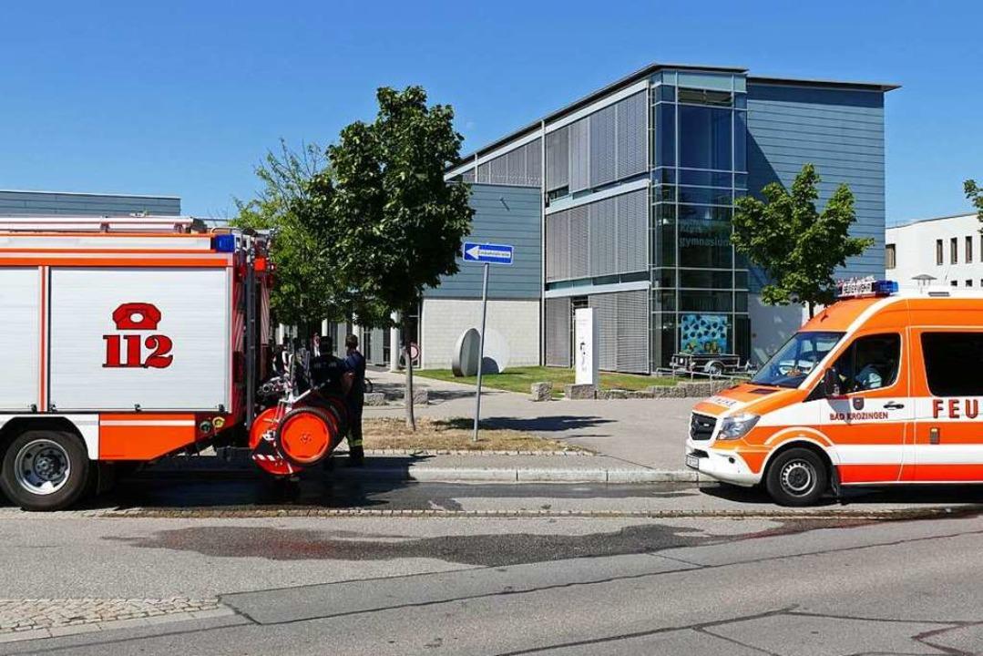 Feuerwehreinsatz am Kreisgymnasium  | Foto: Frank Schoch