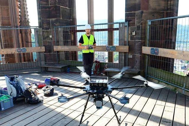 Drohnen vermessen das Münster - mit Hightech aus Freiburg