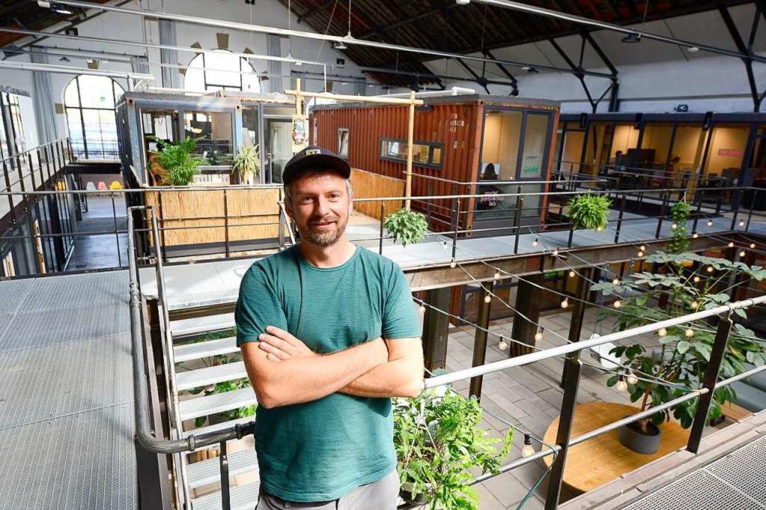 Hagen Krohn vom Gründerzentrum Grünhof... 278 Nutzer sind derzeit registriert.   | Foto: Ingo Schneider